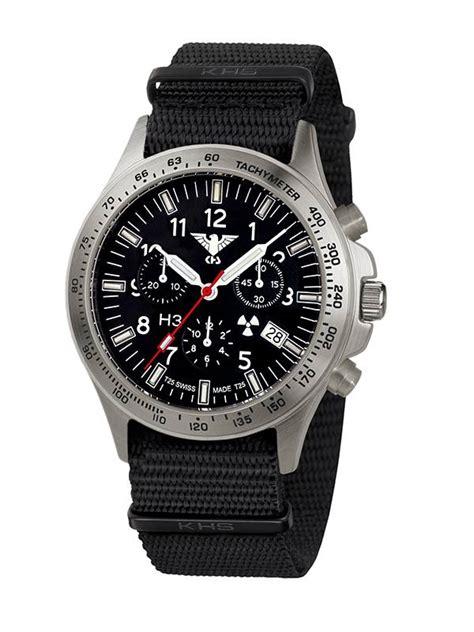 KHS Tactical Watches Black Platoon Titan Chronograph