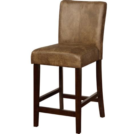 Linon Morocco Counter Stool by Linon Morocco Brown Upholstered Classic Counter Stool By