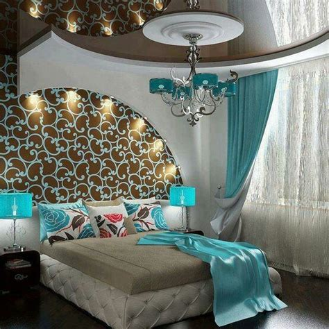 brown and turquoise room home decor