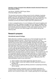 dissertation literature review exle how to write literature review for thesis exle