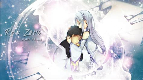 subaru and emilia wallpaper wallpaper re zero emilia x subaru by itsukagusti on