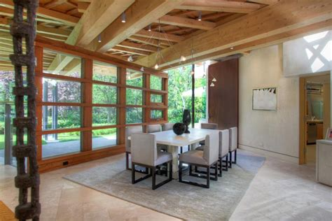 wooden beam ceiling for contemporary dining room ideas 25 modern interiors with exposed ceiling beams