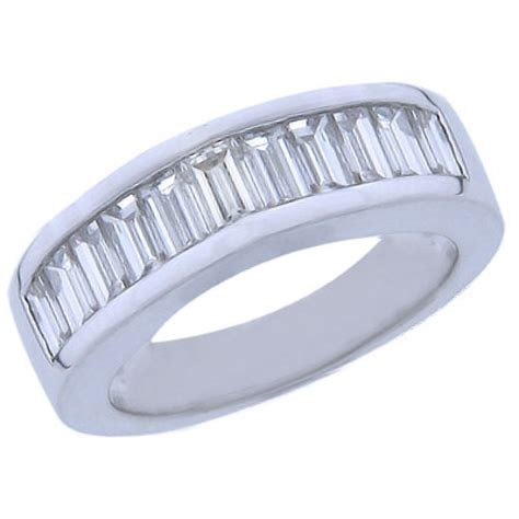 2 00 ct baguette cut wedding band ring