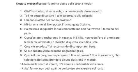 prove d ingresso prima media italiano con soluzioni dettato ortografico prova ingresso prima media idea