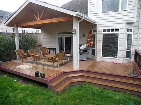 backyard patios and decks trex brasilia deck and patio cover corvallis http tntbuildersinc com decks