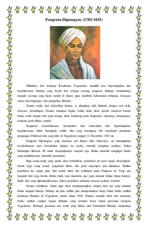biografi pahlawan pangeran diponegoro singkat biografi pangeran diponegoro dan ki hajar dewantara
