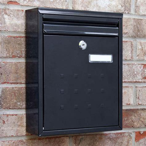 wall mounted locking amsden locking wall mount mailbox outdoor