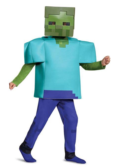 minecraft deluxe child zombie costume