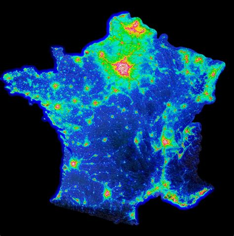 us map at with lights light pollution us map carte de pollution lumineuse