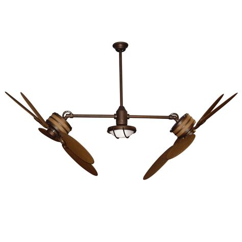 dual outdoor ceiling fan shop yosemite home decor peaks 47 in rubbed
