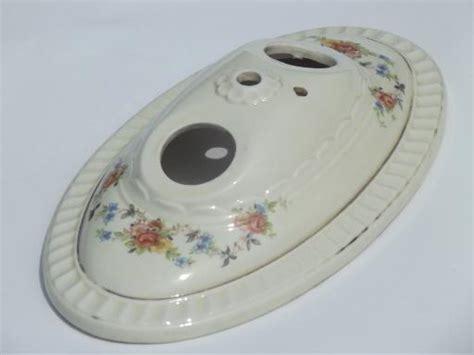 vintage porcelier flowered porcelain flush mount ceiling