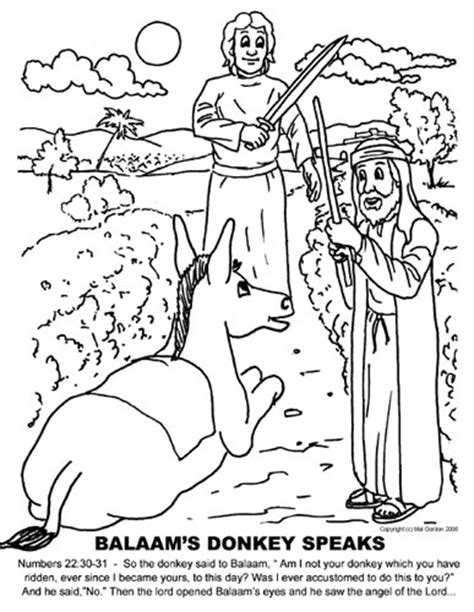 Balaam And The Talking Coloring Pages free coloring pages of balaam talking
