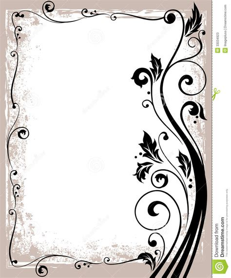 Vintage Bathroom Designs by Ornate Floral Frame Stock Photos Image 33034923
