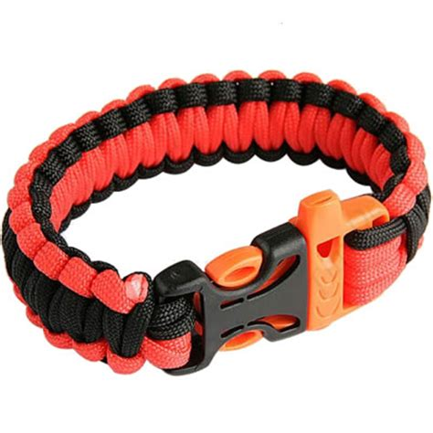 what are paracord survival bracelets paracord survival bracelet with whistle buckle in orange