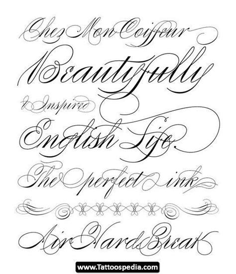best cursive tattoo fonts for girls tattooic