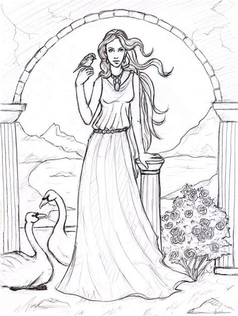 Aphrodite Coloring Page by Aphrodite Goddess Of By Sjostrand Deviantart On