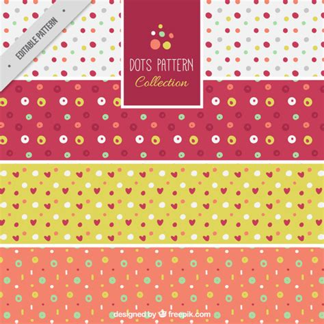 dots pattern freepik set of polka dot patterns vector free download