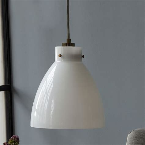 milk glass pendant light industrial glass pendant milk west elm
