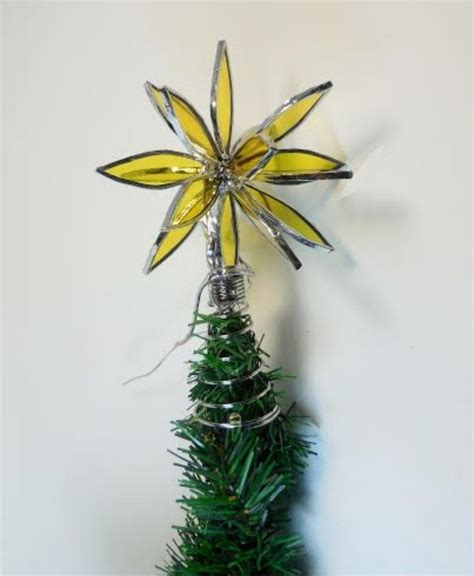 3d stained glass christmas tree topper