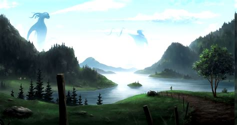 anime landscape wallpapers hd desktop  mobile
