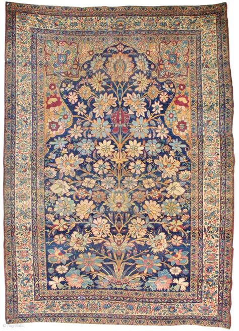 prayer rug size a stunning kirmanshah prayer rug the size is 4 4 x 6 ft woven in the early 19th century