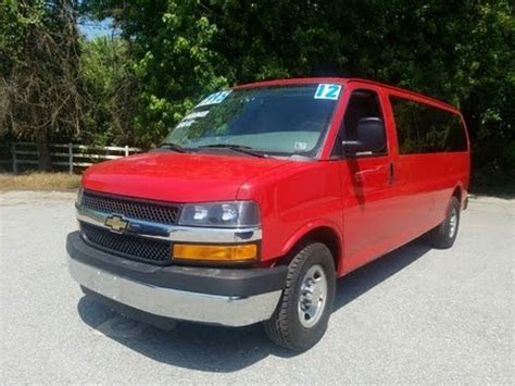 chevrolet express used for sale 15 passenger for sale used chevrolet express 3500