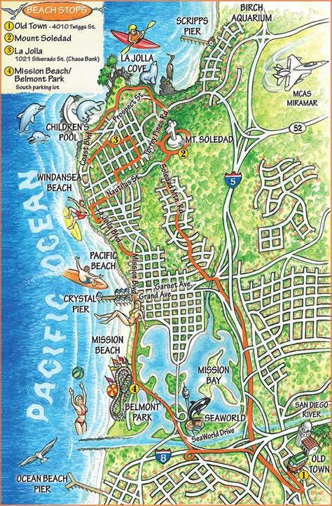 san diego map usa tour map travel southern ca