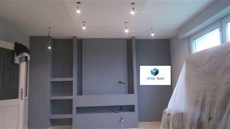 Mur Placo Avec Niche by Comment Faire Un Meuble Tv En Placo