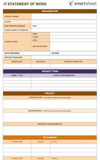 statement of work template free free statement of work templates smartsheet