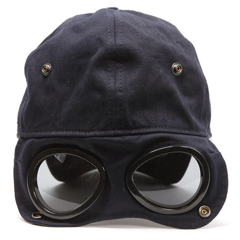 cp hat cp company logo hat with goggles oxygen clothing