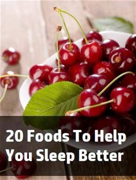 6 Remedies To Help You Sleep Better by The 20 Foods To Help You Sleep Better Health