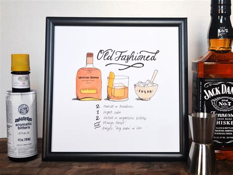 old fashioned recipe old fashioned classic cocktail recipe print of original