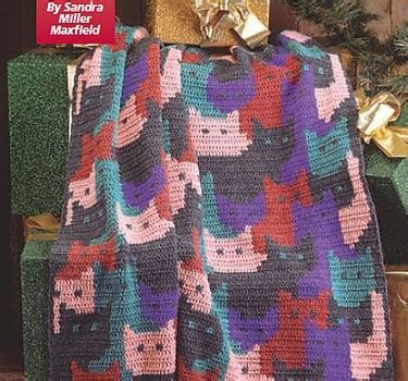 pattern for cat afghan free pattern this cats afghan is absolutely fabulous