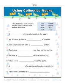 collective noun worksheets using nouns