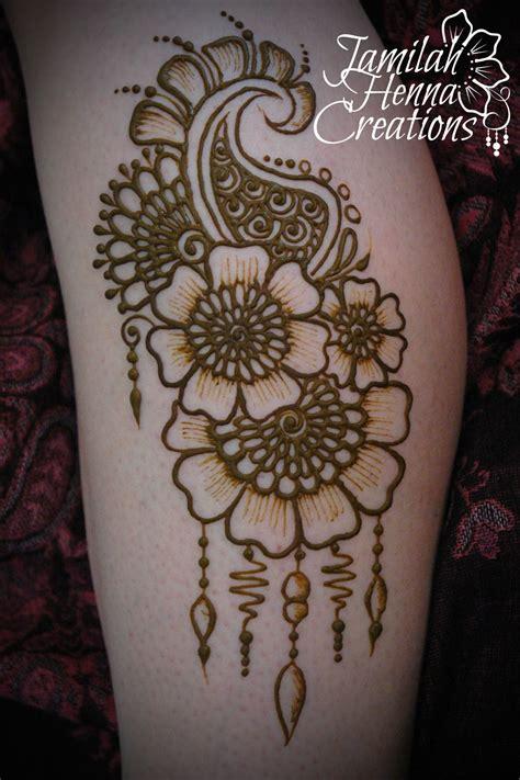 henna tattoo for legs flower paisley leg henna www jamilahhennacreations