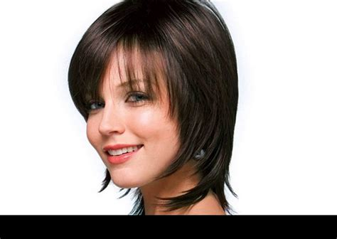 short haircuts cut toward the face hairstyles that are angled towards the face bob with an