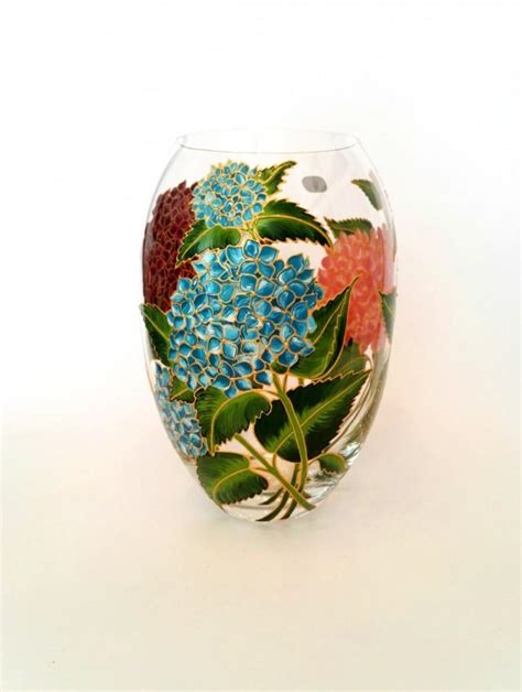 anniversary gift for painted flower vase wedding
