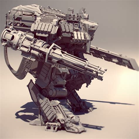 Mecha Model swashbuckler mech 3d model max obj cgtrader