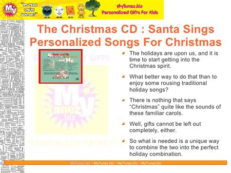the christmas cd santa sings personalized songs for