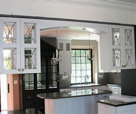 kitchen cabinet glass door inserts textured glass studio glassworks llc