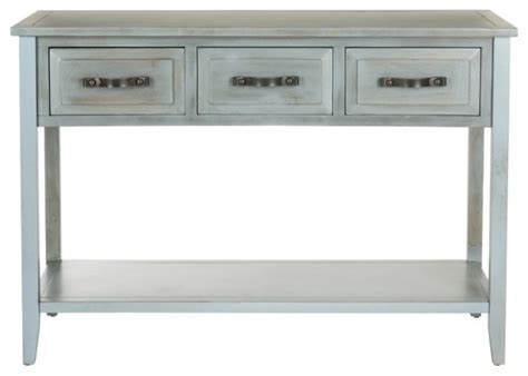 Distressed Coffee And End Tables Aiden Console Table Distressed Pale Blue White Contemporary Side Tables And End Tables