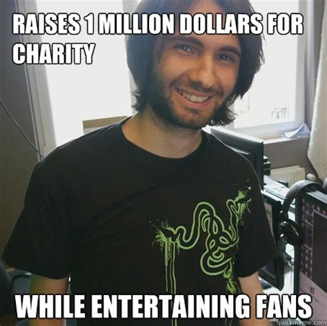 One Million Dollars Meme - raises 1 million dollars for charity while entertaining