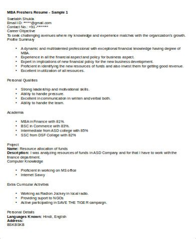 sample resume format mba hr fresher fishingstudio com