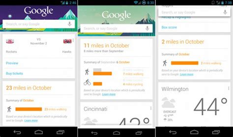 google design cards google now s pedometer card reignites privacy debate