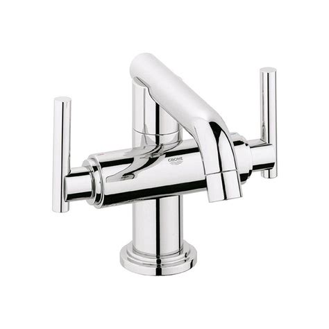 grohe single hole bathroom faucet grohe atrio single hole 2 handle low arc bathroom faucet