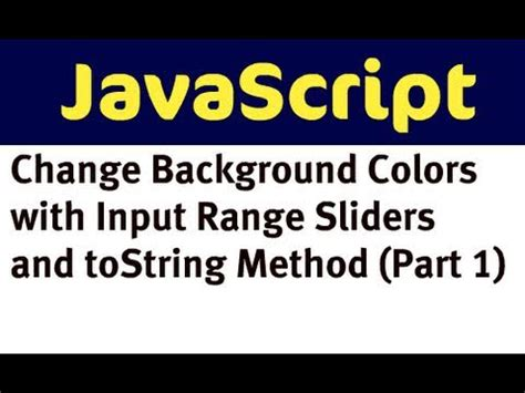javascript on layout change change background colors with javascript and input range
