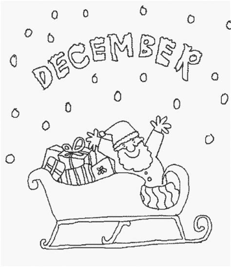 december calendar coloring pages calendar december coloring pages