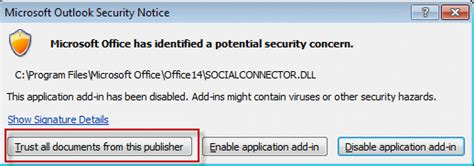 What Time Do The Social Security Office Open by Outlook S Social Connector Triggers Security Alert
