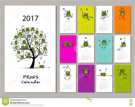 funny bees calendar 2017 design stock vector image 81720022 funny frogs calendar 2017 design stock vector image