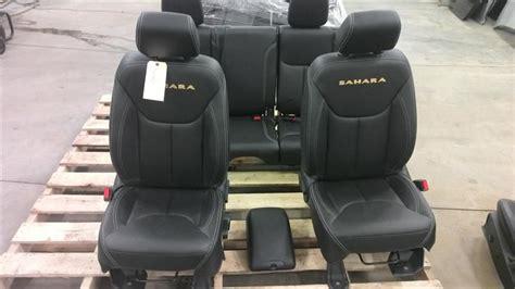jeep wrangler leather seats 12 16 jeep wrangler jk black leather seats set 4